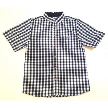 Sötétkék-fehér kockás ing (158)