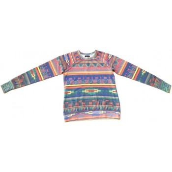 Színes mintás pulóver (152-164)