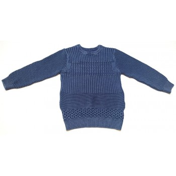 Szürkéskék kötött pulóver (152)