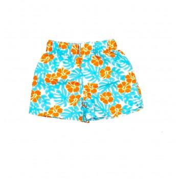 Kék-narancs Hawaii short