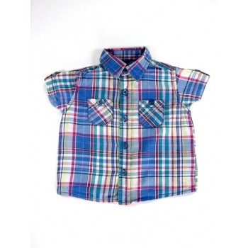 Kék-sárga-zöld kockás ing