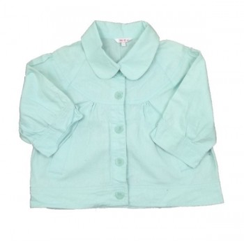 Halványzöld vászon kabátka(164)