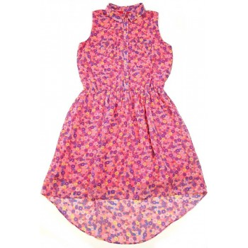 Tarka virágos rózsaszín ruha (158)