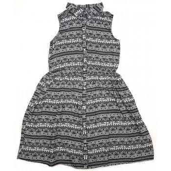 Fekete-fehér mintás ruha (146)
