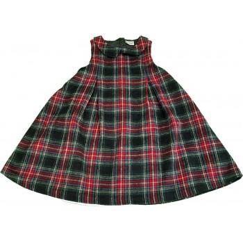 Bordó-fekete kockás ruha (116)