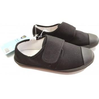 Új, fekete vászoncipő (35)