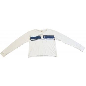 Kék sávos fehér felső (164)