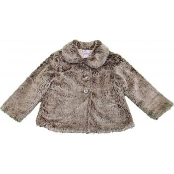 Szőrmés barna kabát (110)