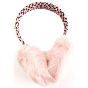 Rózsaszín szőrmés fülmelegítő (134-164)
