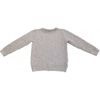 Melírozott szürke kötött pulóver (110)