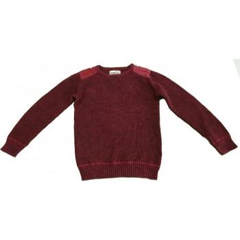 Bordó kötött pulóver (164-170)