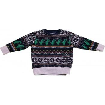 Dínós sötétkék pulóver (92)