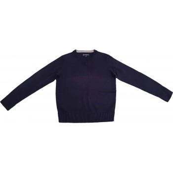 Sötétkék kötött pulóver (128)