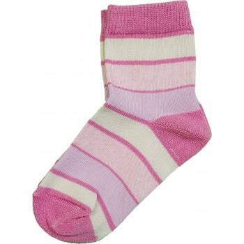 Pink-lila csíkos zokni (23-24)
