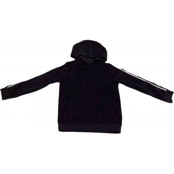 Fekete plüss pulóver (122-128)