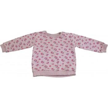 Párducmintás rózsaszín pulóver (98)