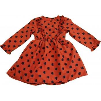 Mosómedvés téglavörös ruha (104)