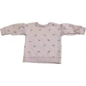 Zebrás lila pulóver (68-74)