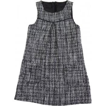 Csillogós fekete-fehér ruha (98)