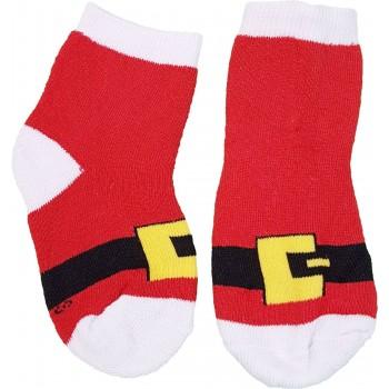 Mikuláscsatos piros thermo zokni (33-36)
