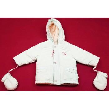 Feliratos világoskék téli kabát (80)