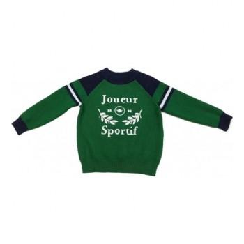 Feliratos zöld pulóver (86)