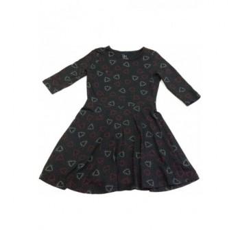 Szíves fekete ruha (134)