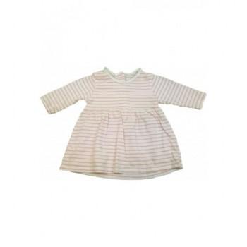 Rózsaszín csíkos ruhácska (62)