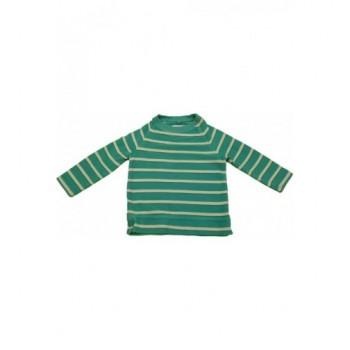 Türkizkék csíkos pulóver (98)