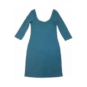 Sötétzöld H&M tunika-ruha (34)