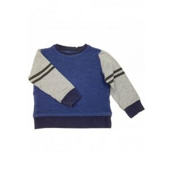 Sötétkék-szürke pulóver (98)