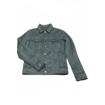 Sötét olajzöld velúr kabát (170)