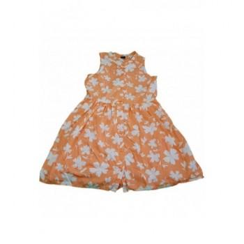 Virágos narancssárga ruha (164-170)