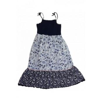 Virágmintás kék ruha (158-164)