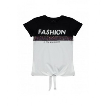 Fekete-fehér Fashion felső (146-152)