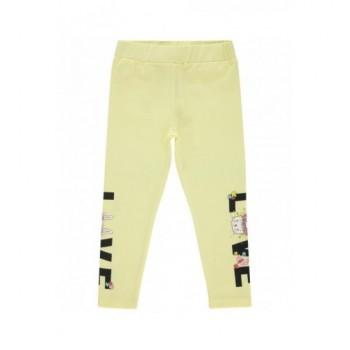 Nyuszis, sárga leggings (98-104)