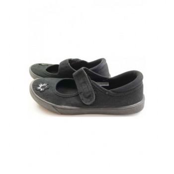 Virágos fekete Clarks cipő (31)