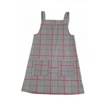 Fekete mintás ruha (152)