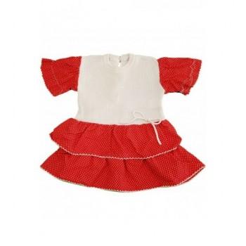 Pöttyös piros-fehér ruha (56-62)