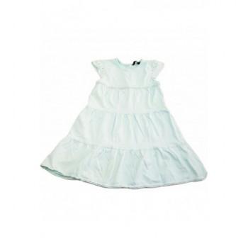 Díszes menta ruhácska (104-110)
