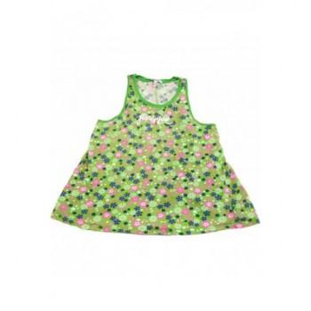 Virágmintás zöld trikó (140)