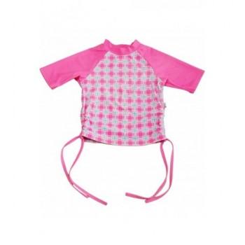 Kockás pink úszóruha felső (92)