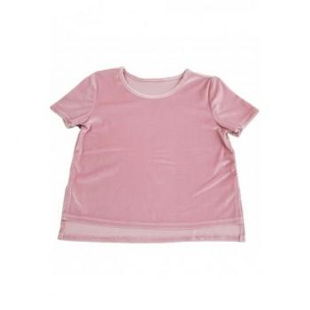 Bársonyos rózsaszín felső (140-146)