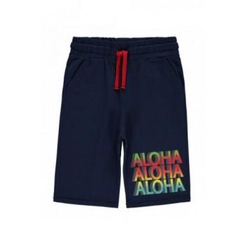 Sötétkék Aloha bermuda (116-122)