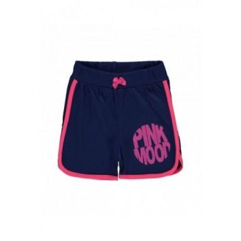 Pink szegélyű kék short (104-110)