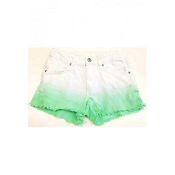 Zöld-fehér ombre rövidnadrág (152)