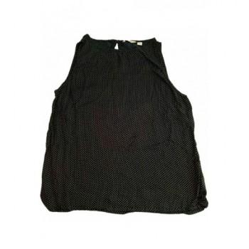Pöttyös fekete blúz (38)
