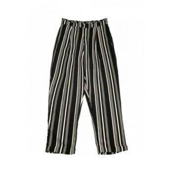 Fekete-fehér csíkos nadrág (158)