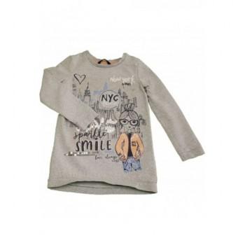 New Yorkos szürke pulóver (128-134)