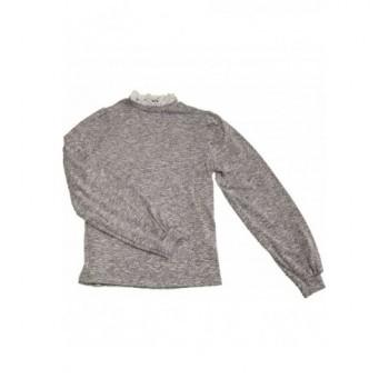 Csipkés szürke pulóver (38)